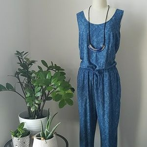 Chaps Spring / Summer Printed Jumpsuit/ Romper